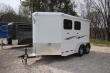 2019 ADAM RUSTLER 2 HORSE SLANT LOAD W/ 4FT DRESSING ROOM HORSE TRAILER