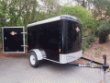 5X8 ENCLOSED BLACK CARRY ON CARGO TRAILER