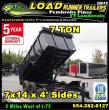 *DB42* 7X14 7 TON LOW PROFILE DUMP TRAILER |DUMPS & TRAILERS 7 X 14 | D83-14T7-LP/48S
