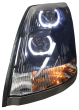 VOLVO VN VNL LED U-BAR HEADLIGHT ASSEMBLY | BLACK HOUSING | DRIVER SIDE | 82329124