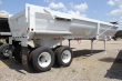 BRAZOS 28FT PIT VIPER TANDEM AXLE STEEL FRAMELESS HALF ROUND END DUMP TRAILER - CENTER POINT, FIXED AXLE