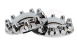 CHROME SEMI TRUCK FRONT AXLE COVER KIT | 33MM LUG NUT COVERS