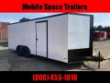 COVERED WAGON TRAILERS 8.5X20 CHAR COAL BLACK OUT RAMP DOOR ENCLOSED CARGO CAR HAULER