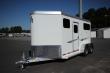 2020 ADAM JU-LITE 710AF-DR 2 HORSE STRAIGHT LOAD W/4FT DRESSING ROOM HORSE TRAILER