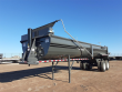 2021 LOAD KING LOAD KING FRAMELESS 1/2 ROUND ROCK END DUMP, SINGL DUMP TRAILER, END DUMP TRAILER