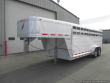 2002 FEATHERLITE 8127 7' X 20' GN ALUM. STOCK TRAILER