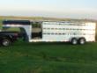 2010 ALUM-LINE 25 FT GOOSENECK SHOW PIG TRAILER