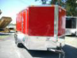 7X14 RED ENCLOSED CARGO MOTORCYCLE TRAILER