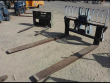 """GRADALL TELEHANDLER FORKLIFT FORK CARRIAGE ROTATING FORK CARRIAGE QUICK COUPLED WITH 96"""" FORKS"""