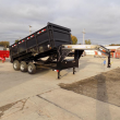 "LOAD TRAIL 83"" X 16' TRIPLE AXLE GOOSENECK DUMP TRAILER W/ 48"" SIDES - PAYMENTS FROM WITH DOWN W.A.C."