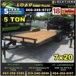 *CH18B* 7X20 5 TON CAR TRAILER W/BRAKES  LR HAULERS & TRAILERS 7 X 20   CH82-20T5-2B