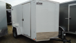 "2020 PACE AMERICAN 6X10 OBDLX SI2 24""VS STAB JCKS RAMP SVNT WHITE ENCLOSED CARGO TRAILER"