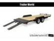 2019 SURE-TRAC 20' WOOD DECK CAR HAULER TRAILER 10K GVWR