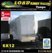 *E5* 6X12 ENCLOSED TRAILER CARGO TANDEM AXLE BOX 6 X 12   EV6-12T3-R