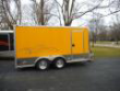 TRAILER, MOTORCYCLE, ALUMINUM, YELLOW, 14' X 7.5'