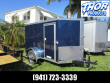 5X8 V CARGO TRAILER RAMP DOOR AND SIDE DOOR INDIGO BLUE