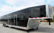 NOW AVAILABLE TAPERED NOSE 2019 48' MILLENNIUM SILVER 12'XE LIVING QUARTERS TRAILER 28' GARAGE AREA