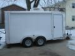 ALL ALUMINUM V NOSE MOTORCYCLE / CAMPING TRAILER