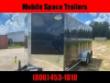 TRAILER 7X16 6'6 BLACK W RAMP DOOR ENCLOSED CARGO SCREWLESSTRAILER