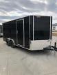 2019 H&H TRAILERS 8X16 CARGO BLACK FLAT TOP V-NOSE TANDEM 3.5K AXLE