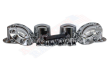CHROME FRONT & REAR AXLE COVER / CONE LUG NUT COVER KIT | 33MM (SIX WHEELS)