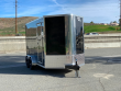 2021 LOOK TRAILER VISION VWLC 7X14 TADNEM AXLE WEDGE NOSE TRAILER