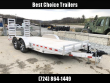 H&H 7X20 HDA ALUMINUM EQUIPMENT TRAILER 14000# GVW * EXTRUDED ALUMINUM FLOOR * TORSION * SWIVEL D-RINGS * EXTRA STAKE POCKETS * CLEARANCE