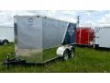 7X14 SILVER AND BLUE HD MOTORCYCLE TRAILER