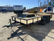 2021 DIAMOND C 7X16 POWDER COATED UTILITY TRAILER W/ SLIDE-IN RAMPS