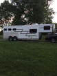 2006 ADAM 3 HORSE SLANT 30' TRAILER WITH LIVING QUARTERS