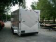 7X16 PEWTER ENCLOSED CARGO MOTORCYCLE TRAILER CUSTOM