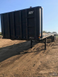1990 TRAIL MOBILE 45X98 FLATBED TRAILER - WOOD FLOOR, TOOLBOX, SPREAD AXLE