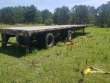 2003 UTILITY 48X102 FLATBED TRAILER - COMBO, ALUMINUM FLOOR, SPREAD AXLE, PIPE STAKES, DUNNAGE RACK