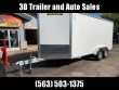 "2020 ALUMA AE 7.5' X 16' TAR 9"" EXTRA TALL UTV PKG ALUMINUM ENCLOSED CARGO TRAILER"