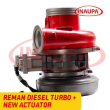 REBUILT 4309076RX CUMMINS ISX HE500VG/HE561VE TURBO DIESEL – + CORE DEPOSIT – NEW CALIBRATED ACTUATOR INCLUDED
