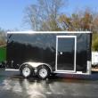 DIAMOND CARGO 7' X 14' TA BLACK ENCLOSED CARGO TRAILER W/CARGO DOORS
