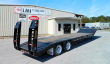 PITTS 35 TON LOWBOY TRAILER - CONTRACTOR SPECIAL NECK, SPRING ASSISTED RAMPS, BEAVERTAIL