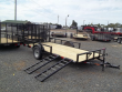 2020 DOWN TO EARTH 82 X 14 SIDE GATE UTILITY TRAILER