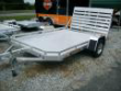 7710 SINGLE AXLE ALUMA ALUMINUM UTILITY TRAILER
