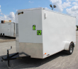 NOW AVAILABLE 2019 6'X12' SCOUT WHITE ENCLOSED CARGO TRAILER PLUS PKG & FREE OPTIONS
