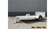 """2021 H&H 78"""" X 12' ALUMINUM LOW-SIDE FLATBED UTILITY TRAILER"""