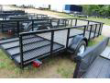 CARRY-ON 5X14 GWHS FLATBED UTILITY TRAILER WITH HIGH SIDES STOCK# 03730CO