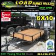 *U15* 6X10 UTILITY LAWN ATV TRAILER W/ 3500 LB AXLE 6 X 10   U72-10S3-AR