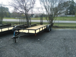"""2021 P&T TRAILERS 77"""" X 18' WORK TRAILER W/STAND UP RAMPS"""