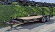 2019 CAM 18' HD LO PRO EQUIPMENT HAULER W/ 2' SELF CLEANING BEAVERTAIL/ STAND UP RAMPS