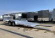 2021 ALUMA 8218 TILT BED W/ JT PKG ALUMINUM OPEN CAR HAULER TRAILER