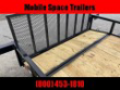 DOWN 2 EARTH TRAILERS 76X14 TANDEM AXLE DOVETAIL UTILITY TRAILER STOCK# DTE7614UT3.5B-80603