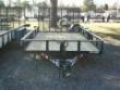 82 X 14 SINGLE AXLE ATV LAWNMOWER UTILITY TRAILER BLACK