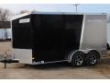 MOTORCYCLE SIDE BY SIDE ATV TRAILER - 7X14 ENCLOSED