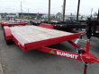 2018 CONTINENTAL CARGO 7 X 16 7K FLATBED RED